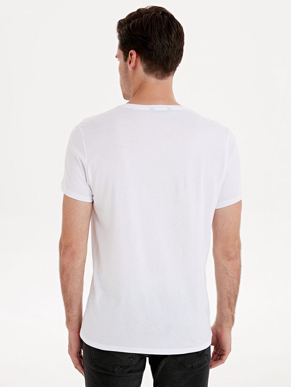 Erkek Yazı Baskılı Kısa Kollu Pamuklu Tişört