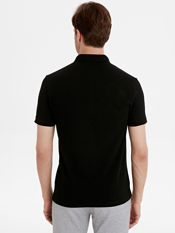 %100 Pamuk Standart Düz Kısa Kol Tişört Polo Polo Yaka Kısa Kollu Basic Pike Tişört