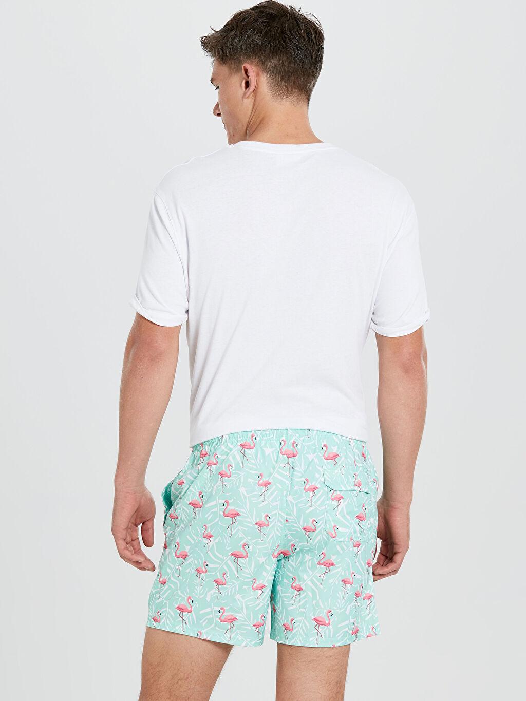 %100 Polyester %100 Polyester  Kısa Boy Baskılı Deniz Şortu