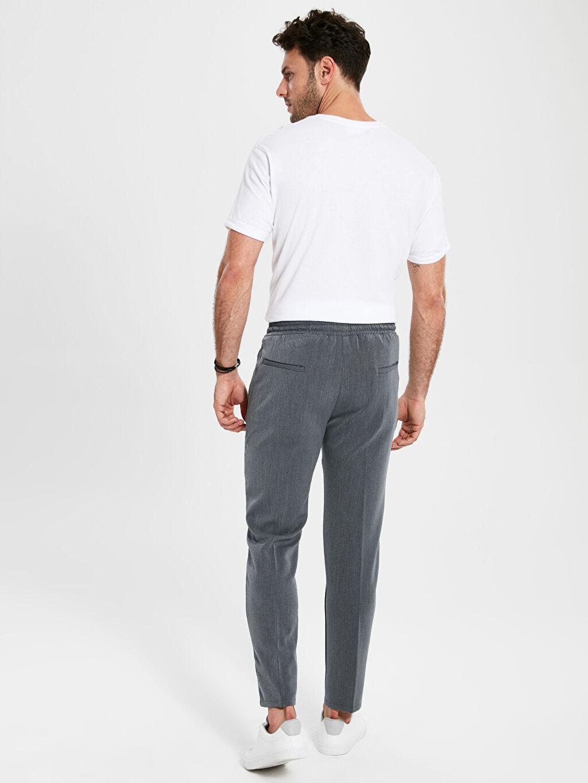 %78 Polyester %17 Viskoz %5 Elastan Slim Fit Bilek Boy Poliviskon Pantolon
