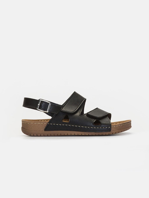 Siyah Erkek Çift Bantlı Kalın Taban Sandalet 9SC554Z8 LC Waikiki