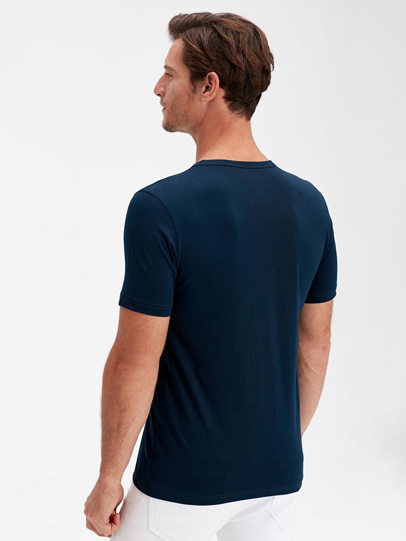 %100 Pamuk Standart Düz Kısa Kol Tişört Diğer Pat Yaka Basic Pamuklu Tişört