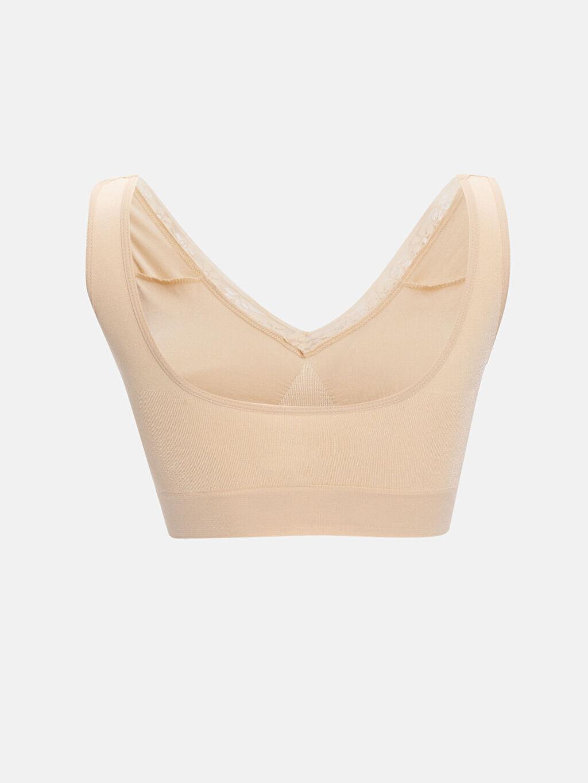 %92 Poliamid %8 Elastan İç Giyim Standart Dantel Detaylı Dikişsiz Korse