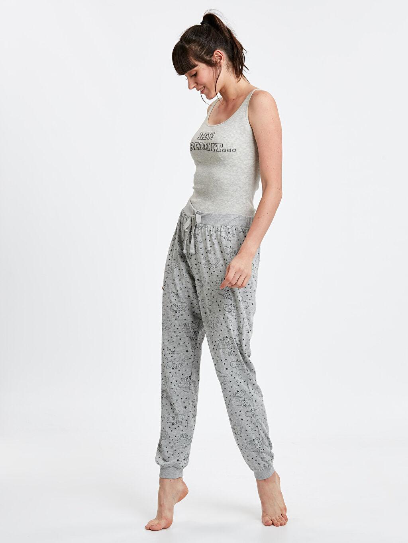 Gri Desenli Jogger Pijama Altı 9S1099Z8 LC Waikiki