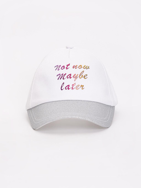 %78 Pamuk %22 Polyester Şapka Yazı Baskılı Şapka