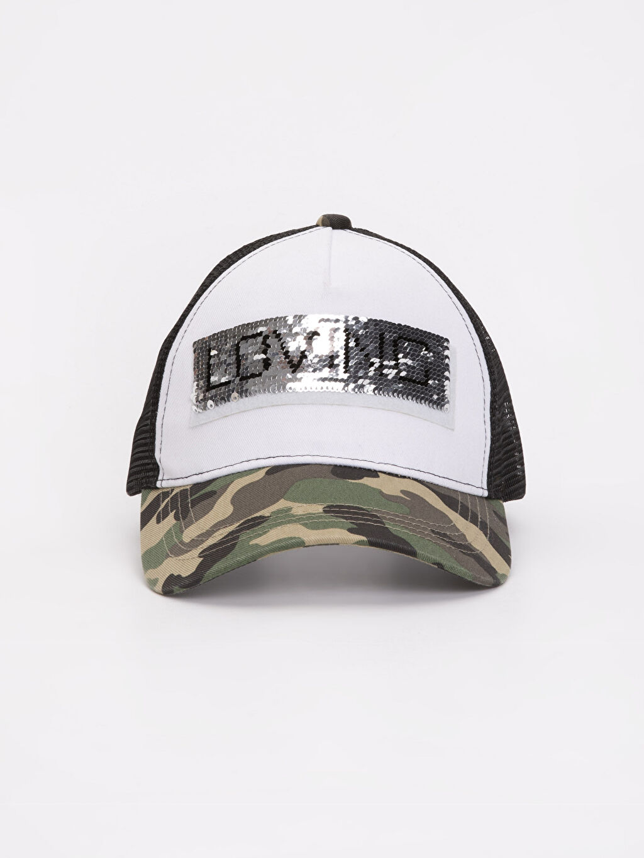 %100 Polyester Şapka Pul Payetli Şapka