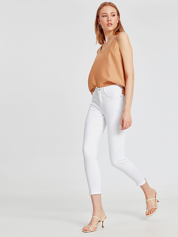 Beyaz Skinny Pantolon 9S2799Z8 LC Waikiki