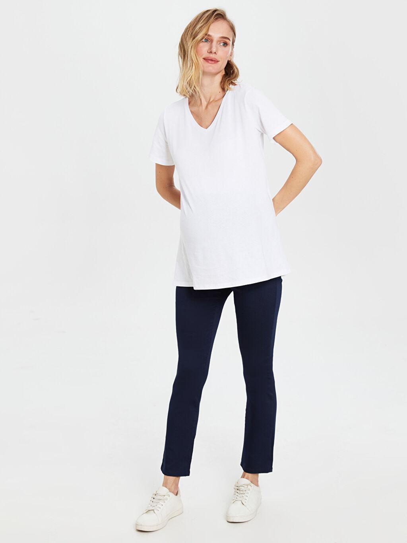 %66 Pamuk %30 Polyester %4 Elastan Pantolon Pantolon