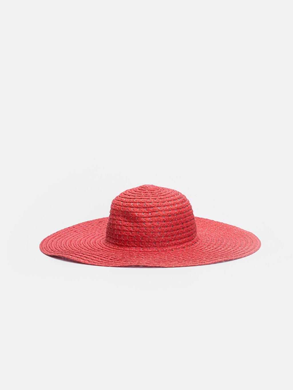Kırmızı Hasırlı Fötr Şapka 9S5247Z8 LC Waikiki