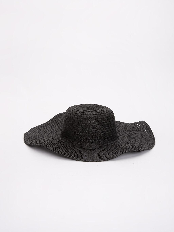 Siyah Hasırlı Fötr Şapka 9S5247Z8 LC Waikiki