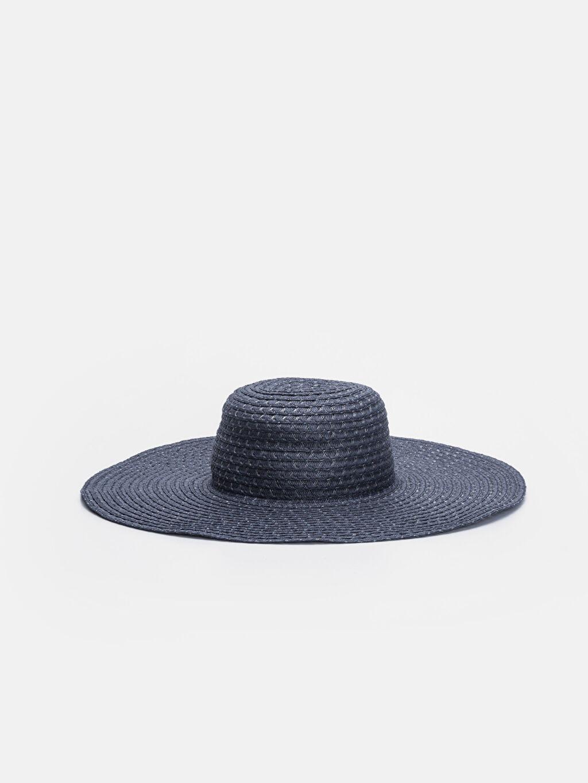 Lacivert Hasırlı Fötr Şapka 9S5247Z8 LC Waikiki