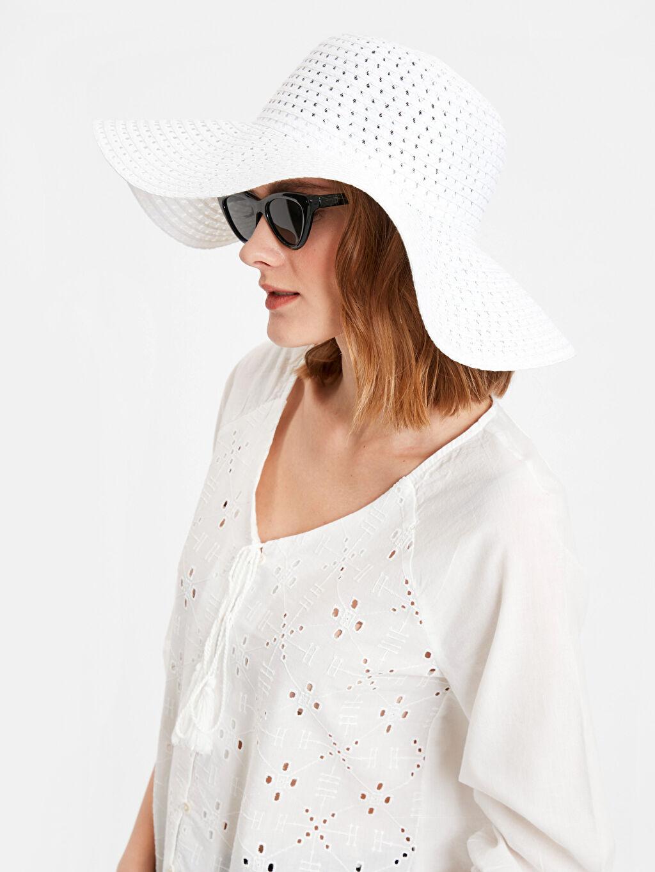 Kadın Hasırlı Fötr Şapka