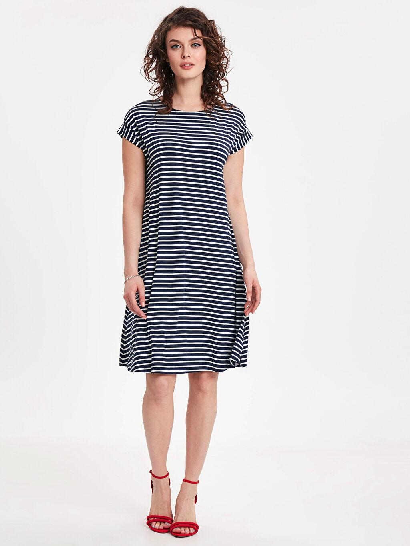 Lacivert Salaş Kloş Elbise 9S7213Z8 LC Waikiki