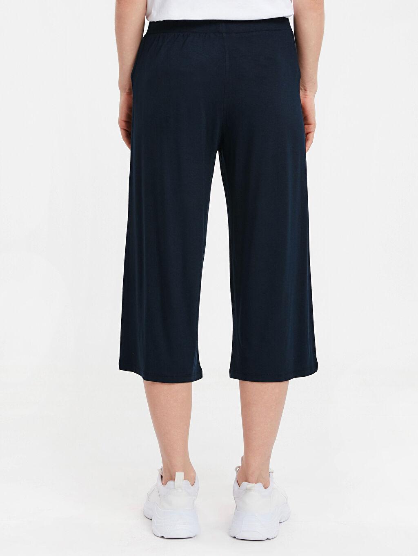 Kadın Beli Lastikli Kısa Paça Pantolon