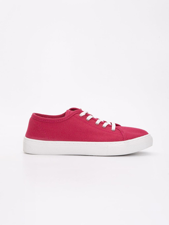 Kırmızı Kadın Bağcıklı Spor Ayakkabı 9SG090Z8 LC Waikiki