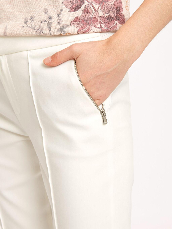 %55 Pamuk %41 Polyester %4 Elastan Bilek Boy Düz Paça Esnek Kumaş Pantolon