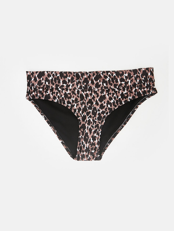 Kahverengi Leopar Desenli Bikini Alt 9SK008Z8 LC Waikiki