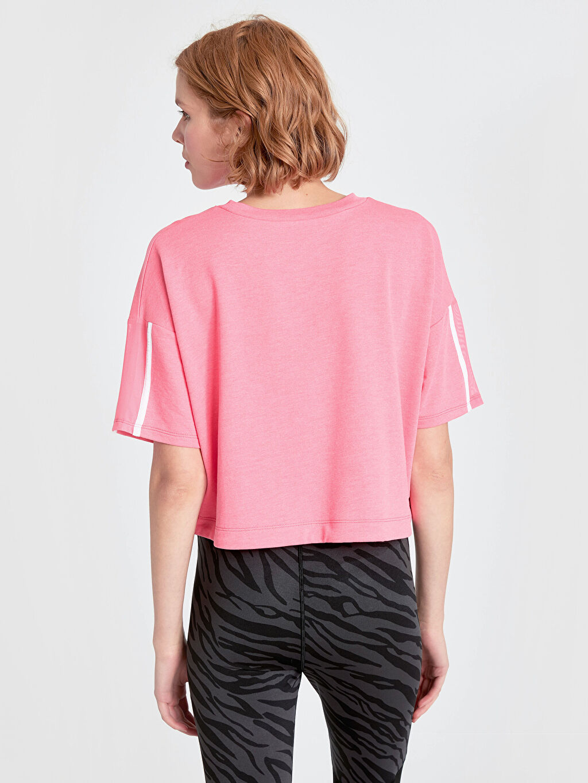 Kadın Neon Yazı Baskılı Spor Tişört