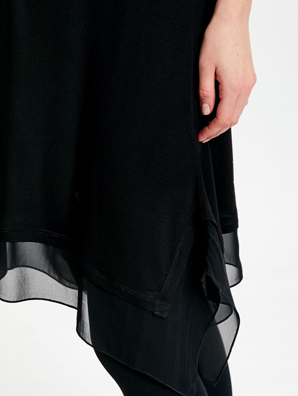 Kadın Tül Detaylı Viskon Hamile Tunik