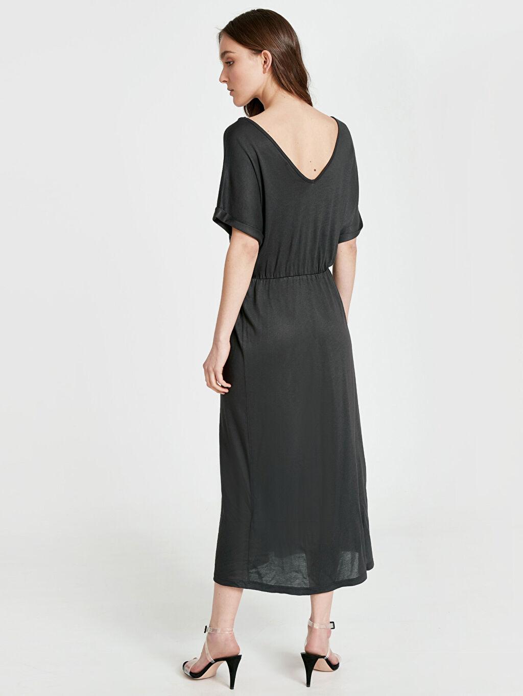 Kadın Beli Bağlama Detaylı Salaş Elbise