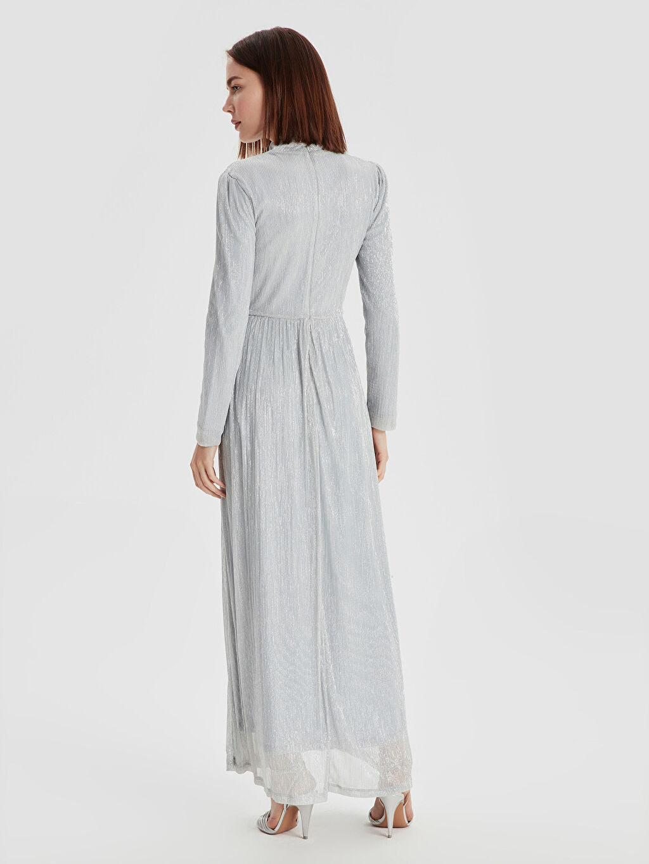 Kadın Işıltılı Şifon Uzun Abiye Elbise