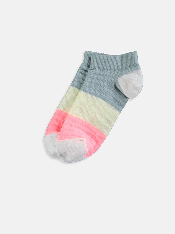 Kadın Desenli Patik Çorap 3'lü