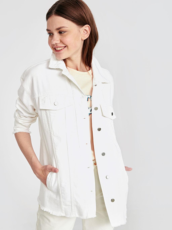 %100 Pamuk Orta İnce Ceket Jean Ceket