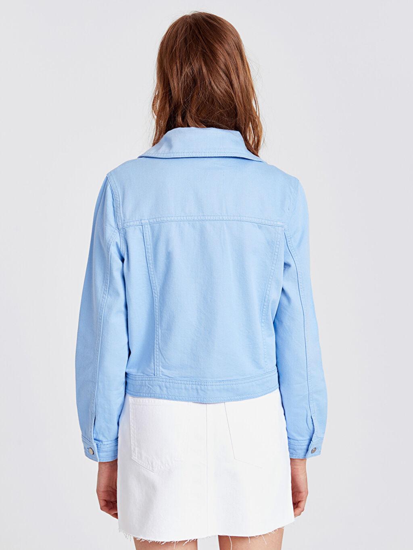 Kadın Renkli Jean Ceket
