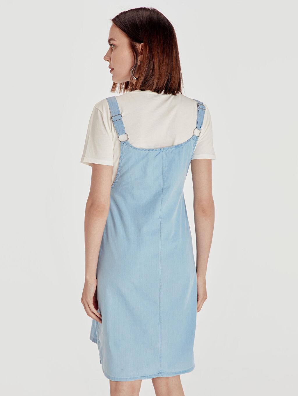Kadın Pamuklu Jean Hamile Elbise
