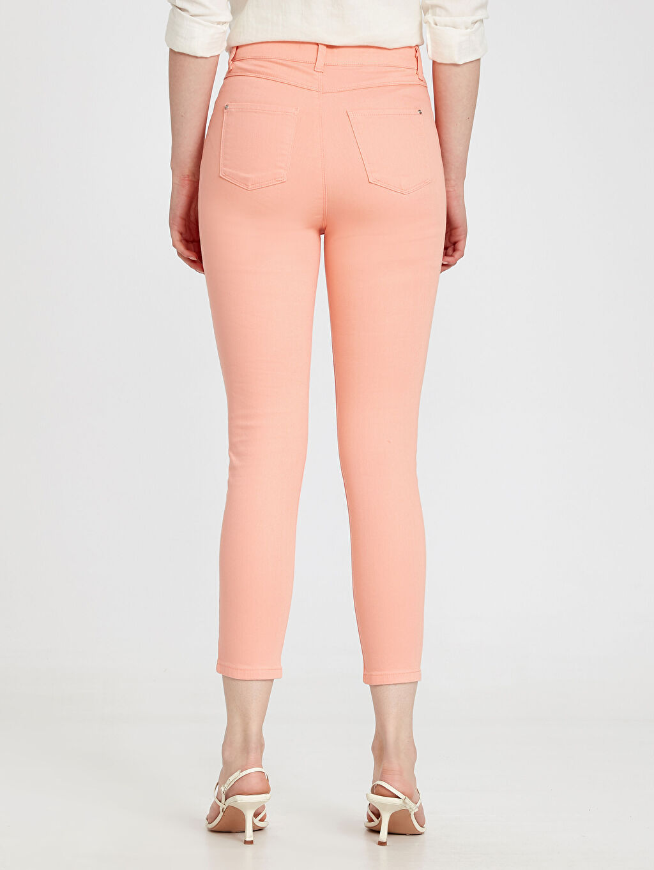 %98 Pamuk %2 Elastan Bilek Boy Skinny Pantolon
