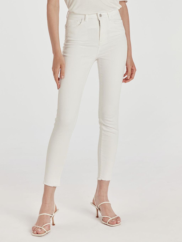 Kadın Bilek Boy Skinny Jean Pantolon
