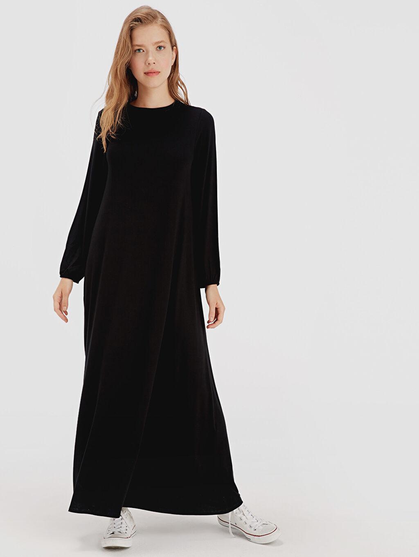 Siyah Uzun Salaş Elbise 9SV061Z8 LC Waikiki