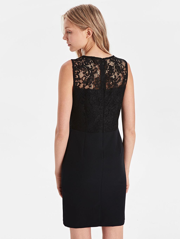 Kadın Dantelli Krep Elbise