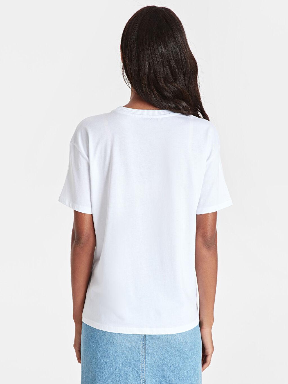 Kadın Garfield Baskılı Pamuklu Tişört