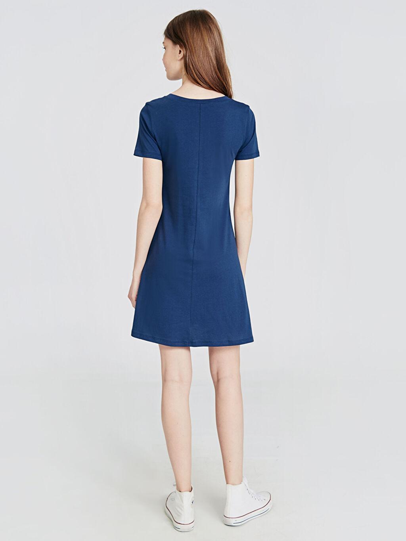 Kadın Dökümlü Pamuklu Elbise