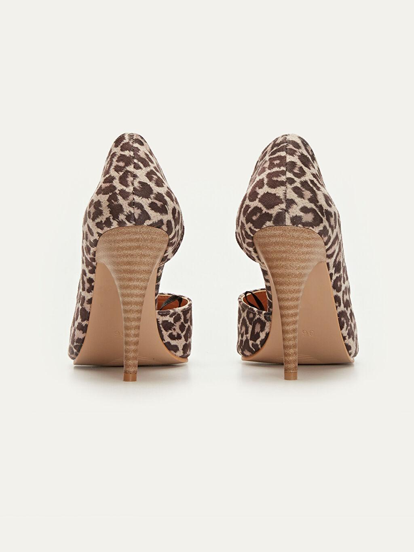 Kadın Leopar Desenli Stiletto Ayakkabı