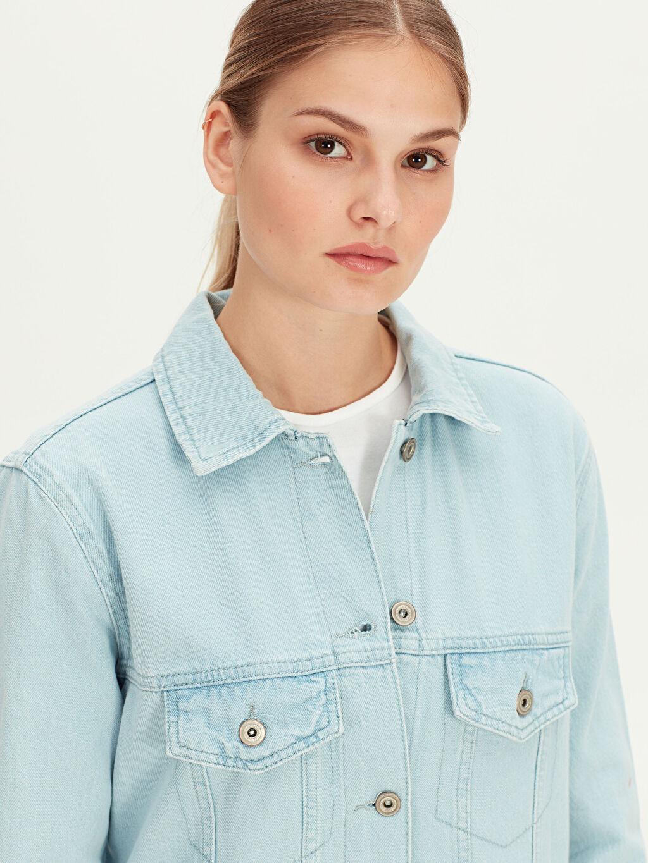 Kadın Uzun Jean Ceket