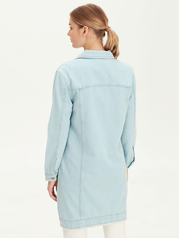 %100 Pamuk Uzun Jean Ceket