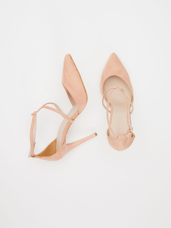 Diğer malzeme (poliüretan) Diğer malzeme (poliüretan)  Kadın Çapraz Bantlı Stiletto Ayakkabı