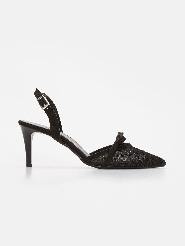 Siyah Kadın Fiyonklu Topuklu Ayakkabı 9SY582Z8 LC Waikiki