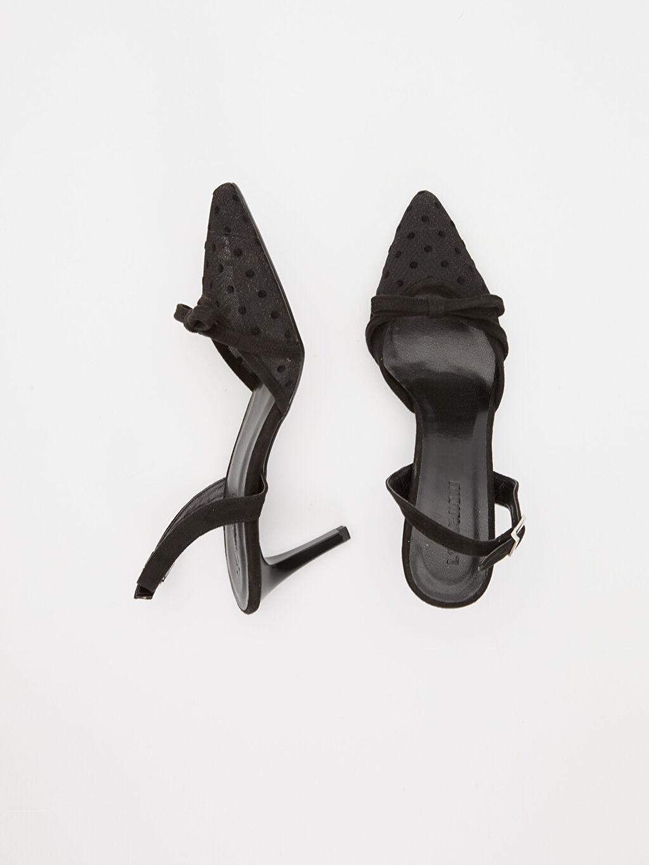 Tekstil malzemeleri Diğer malzeme (poliüretan) Diğer malzeme (poliüretan)  Kadın Fiyonklu Topuklu Ayakkabı