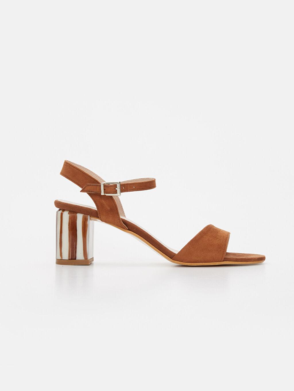 Bej Kadın Topuklu Şık Sandalet 9SY585Z8 LC Waikiki