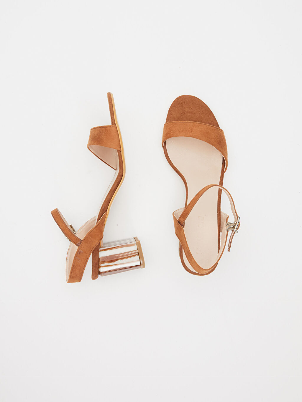 Diğer malzeme (poliüretan) Diğer malzeme (poliüretan)  Kadın Topuklu Şık Sandalet