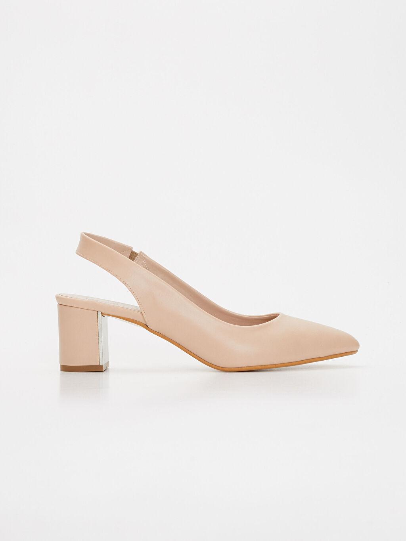 Pembe Kadın Sivri Burun Topuklu Ayakkabı 9SY618Z8 LC Waikiki