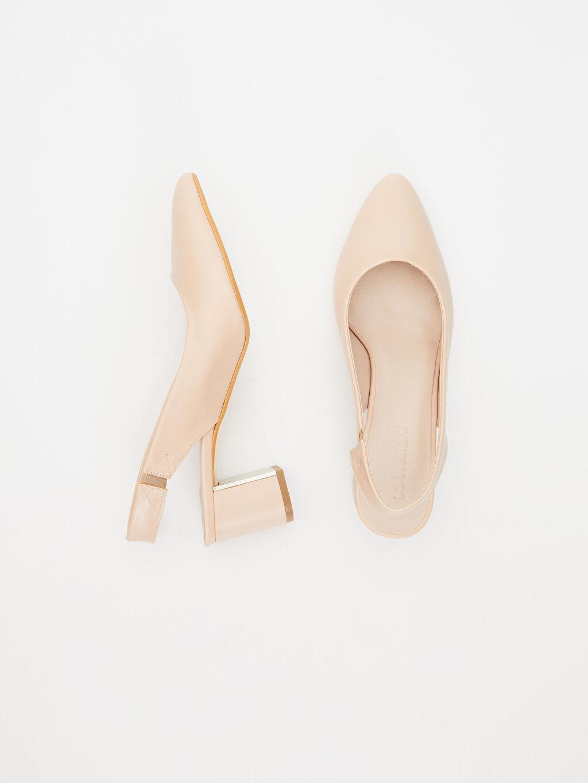 Tekstil malzemeleri Diğer malzeme (poliüretan)  Kadın Sivri Burun Topuklu Ayakkabı