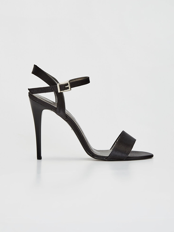 Siyah Kadın Sivri Topuklu Ayakkabı 9SY626Z8 LC Waikiki