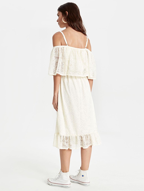 Kadın Danteli Fırfırlı Elbise