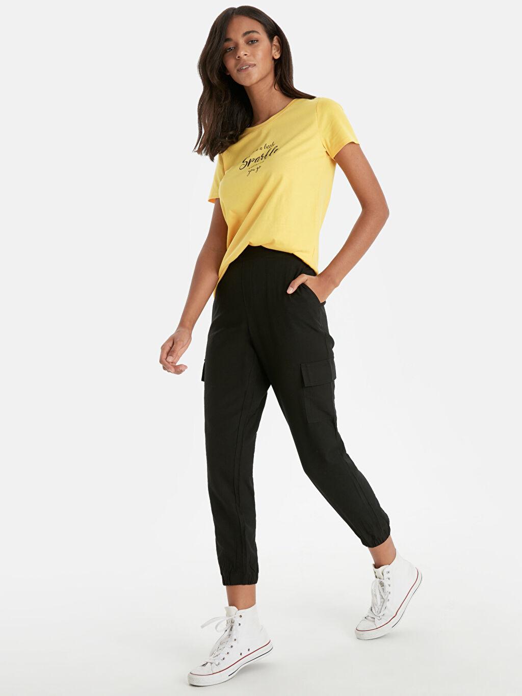 Siyah Beli Lastikli Jogger Pantolon 9SA251Z8 LC Waikiki