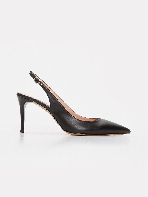 Siyah Kadın Sivri Burun Topuklu Ayakkabı 9SA661Z8 LC Waikiki