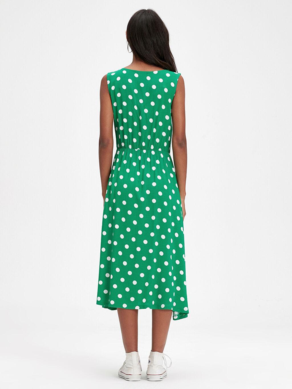 Kadın Puantiyeli Viskon Elbise